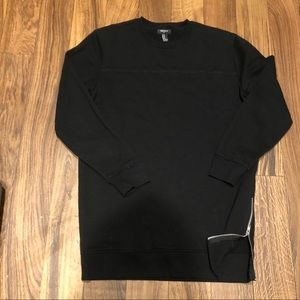 Forever 21 longline crewneck with side zipper.